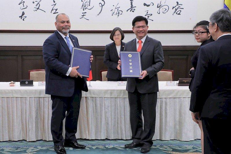 台諾簽署航空服務協定 總統盼開設航線