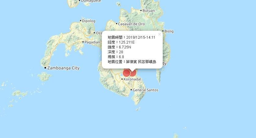 菲南6.8強震 1死多傷、無海嘯