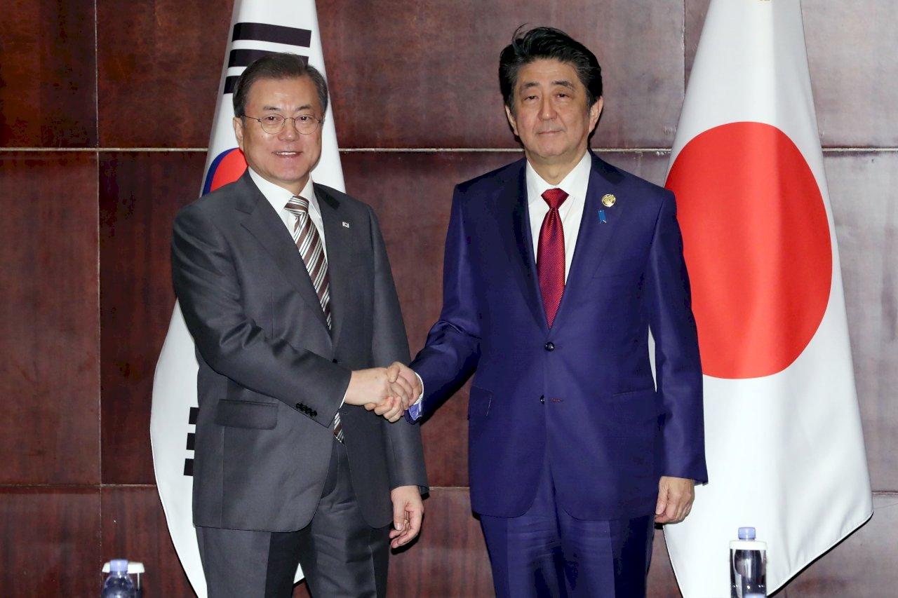 15個月來首次 日韓舉行高峰會談