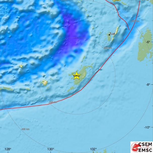 印尼塔寧巴群島6.2地震 未傳災情
