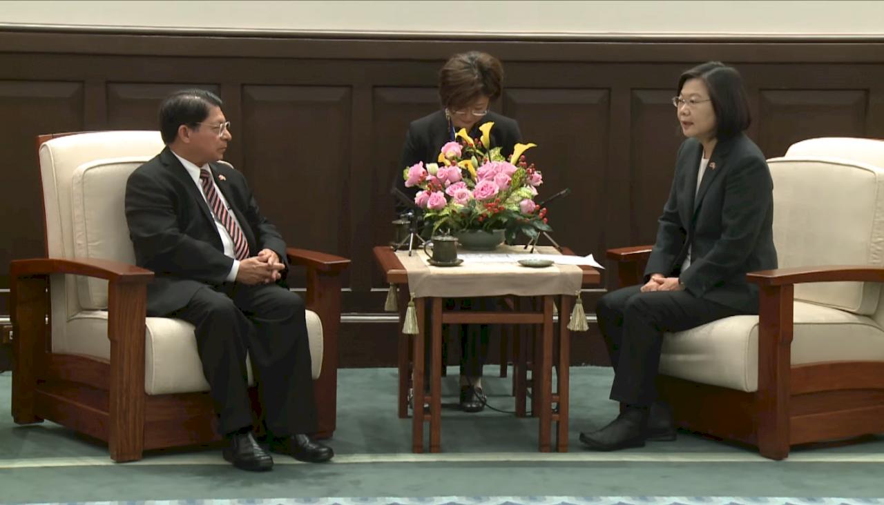 接見尼國外長 總統:台灣樂意分享各領域經驗