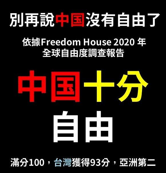 自由之家評比 中國列「十分」自由國家
