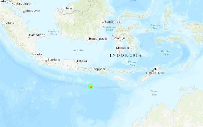 印尼峇里島南方海域強震 規模6.3
