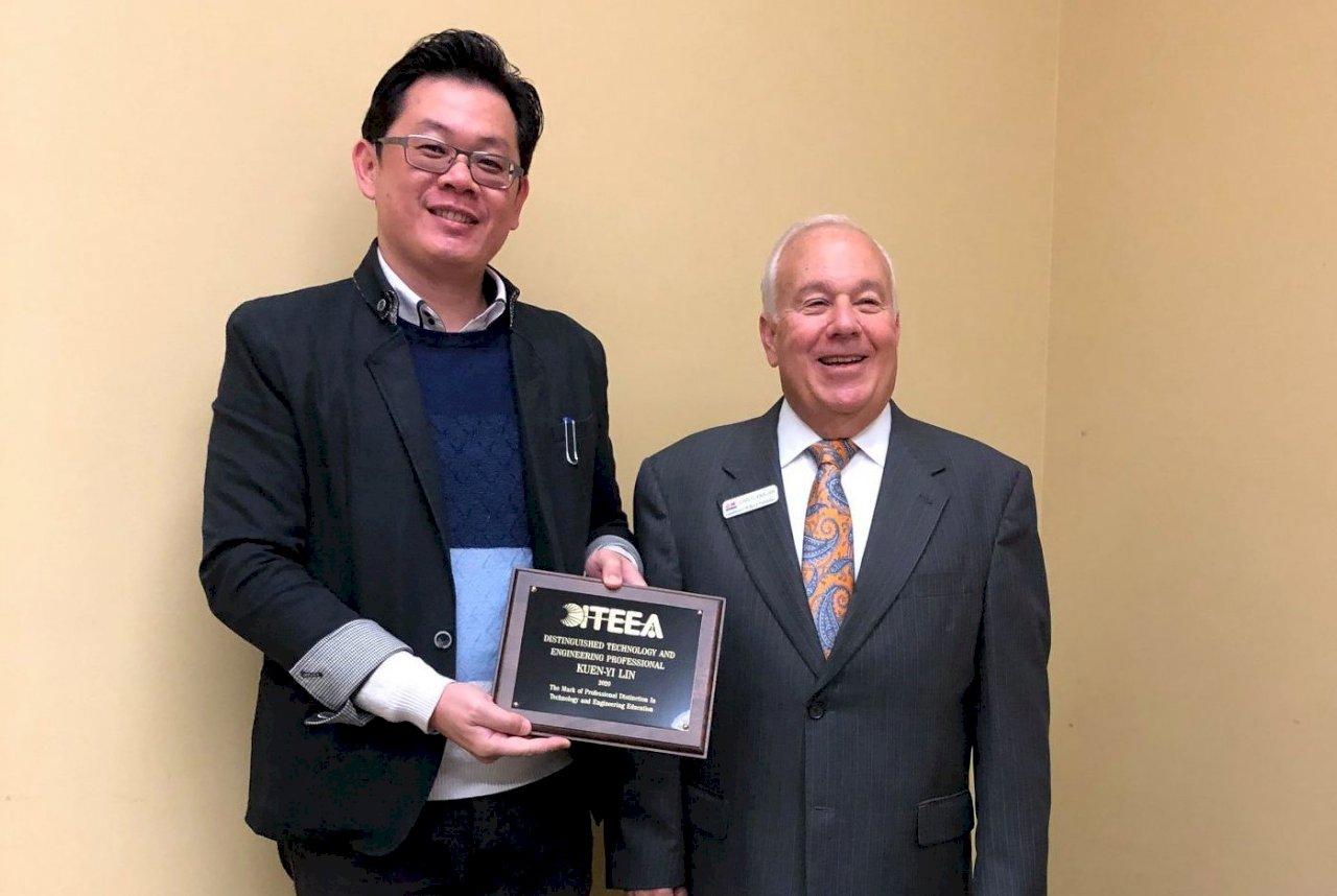 台學者林坤誼 獲美「傑出科技和工程專業人員」頭銜
