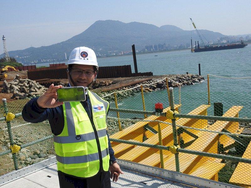 世界級地標―淡江大橋 主橋塔奠基、2024年完工