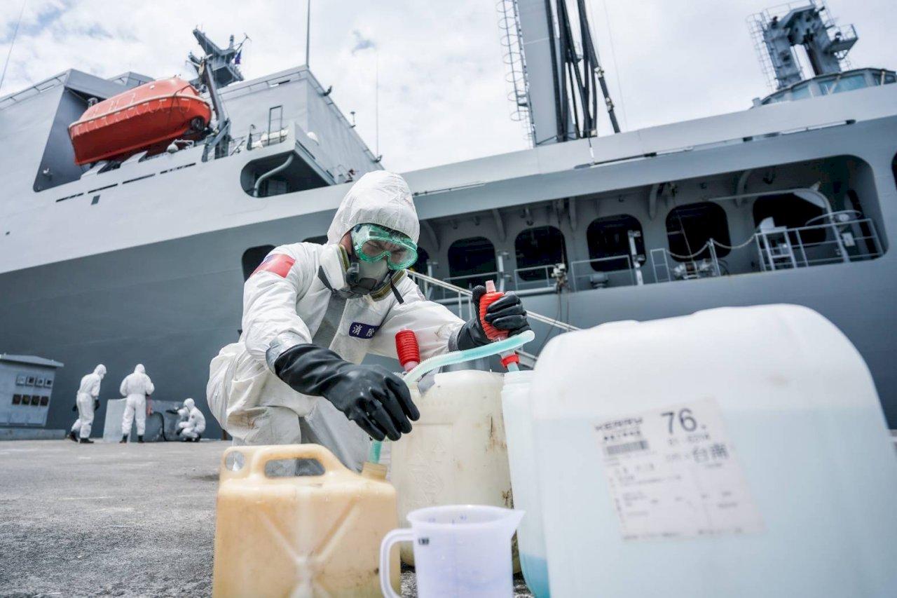 敦睦艦隊就診記錄 國防部:康定艦發燒1 岳飛艦發燒2
