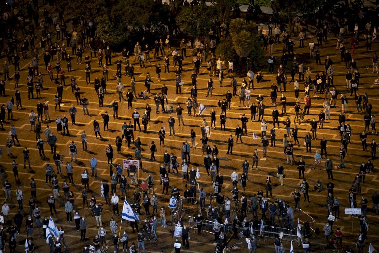 反對尼坦雅胡繼續執政 以色列人示威