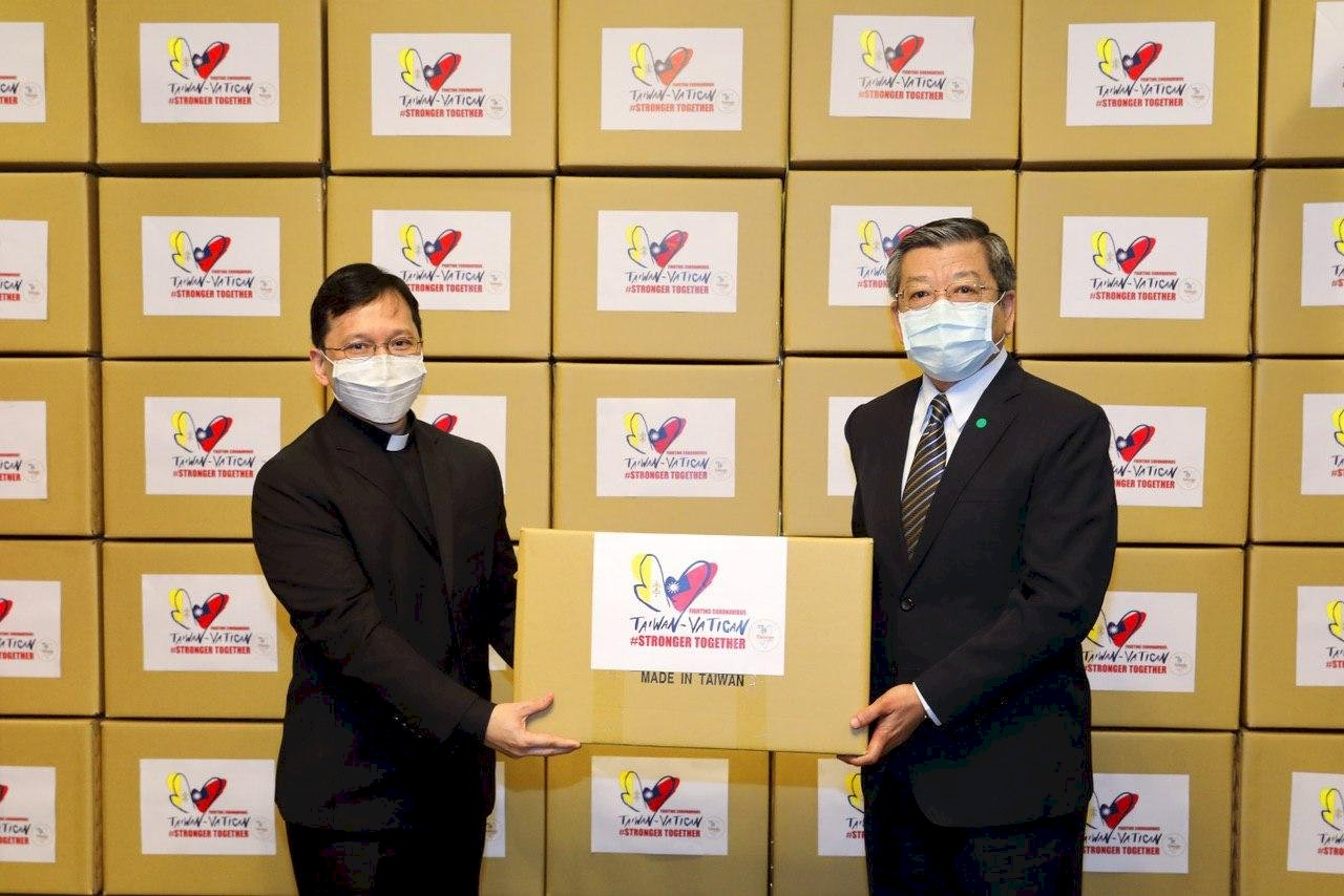 我再贈教廷20萬片口罩 外交部:展現台梵堅實友誼