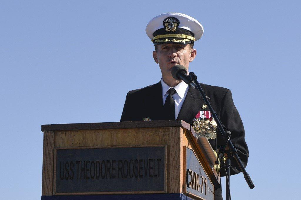 羅斯福號前艦長染疫康復 已任新職未返原艦艇