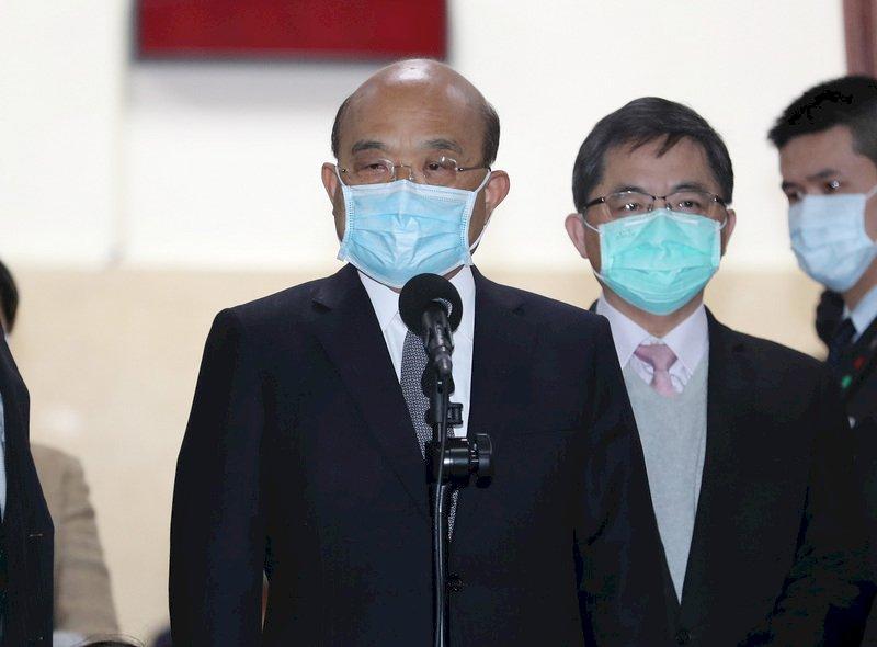 蘇揆報告紓困預算追加案 盛讚台灣模式受國際肯定