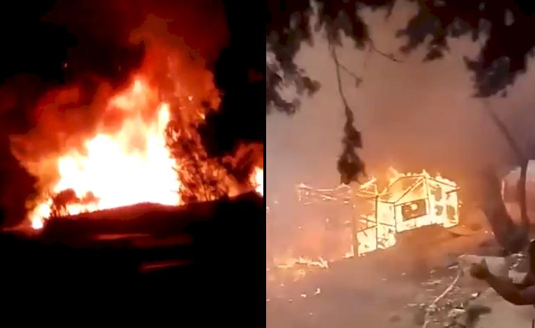 希臘愛琴海島上難民營大火 數百人無家可歸