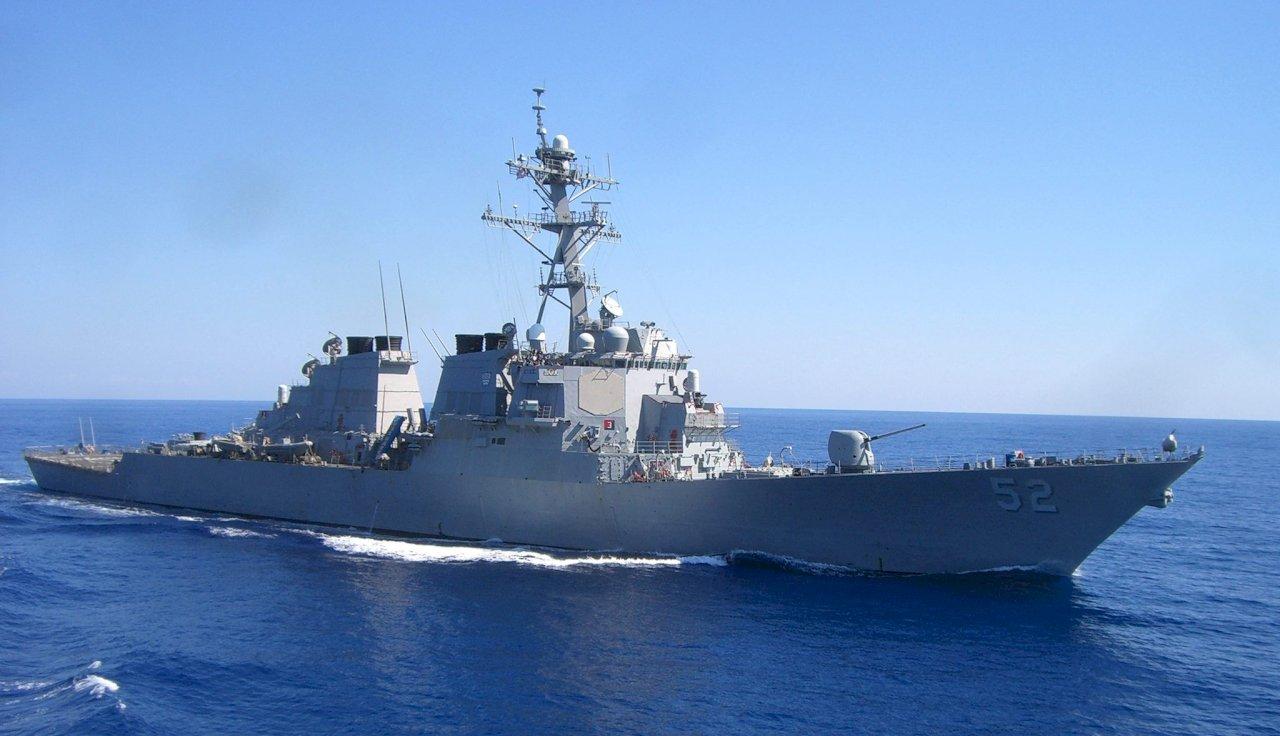 美驅逐艦經台灣海峽南駛 國防部全程掌握