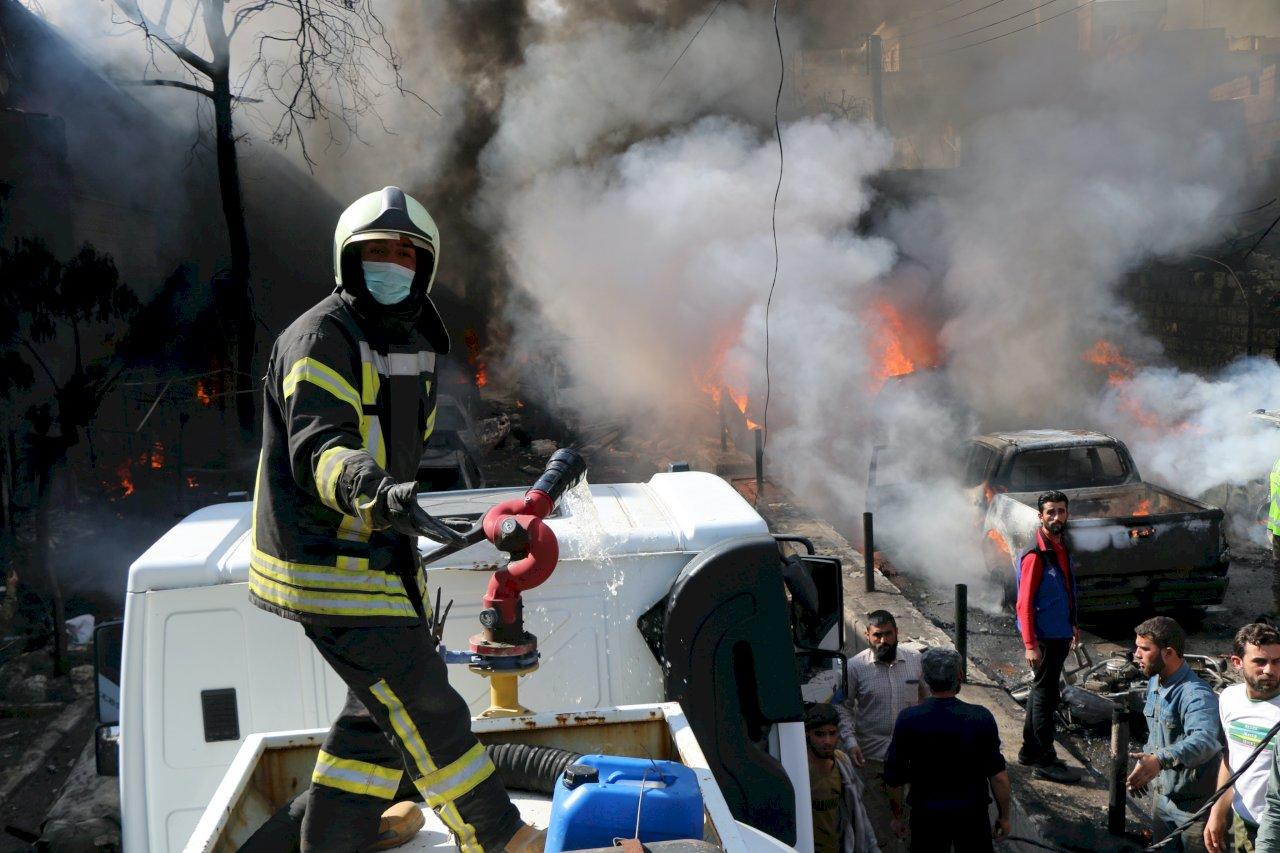 敘北油罐車炸彈爆炸 至少46死