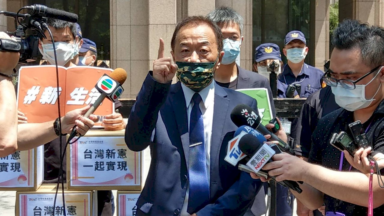 制憲公投提案連署今送中選會 盼台灣成為正常國家