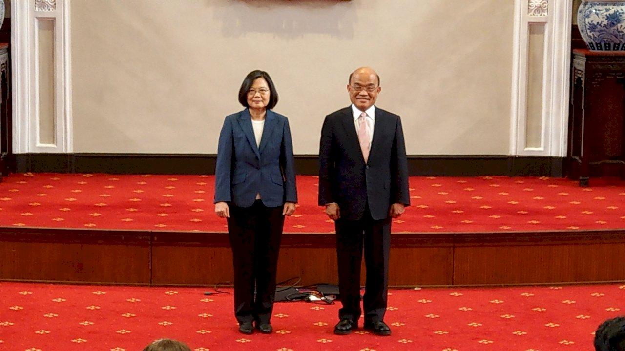肯定最佳夥伴與執行者 蔡總統宣布蘇貞昌續任閣揆