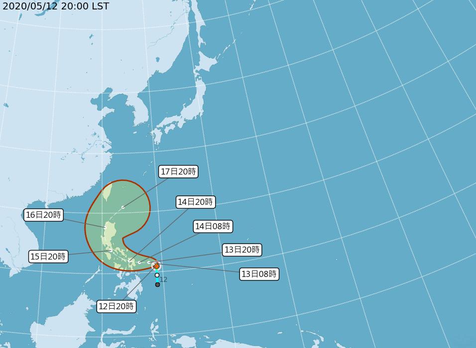 1號颱風黃蜂形成 16日起靠近台灣