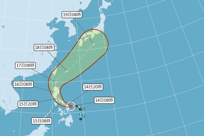中颱黃蜂暴風圈大  氣象局不排除發海警
