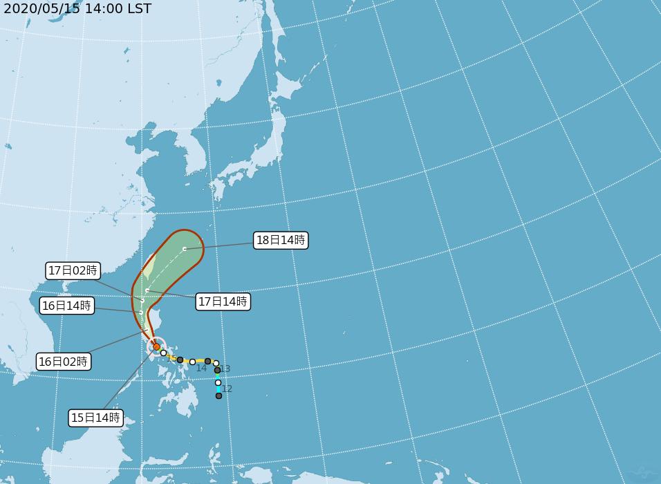 颱風黃蜂減弱為輕颱 明天可能發布海警