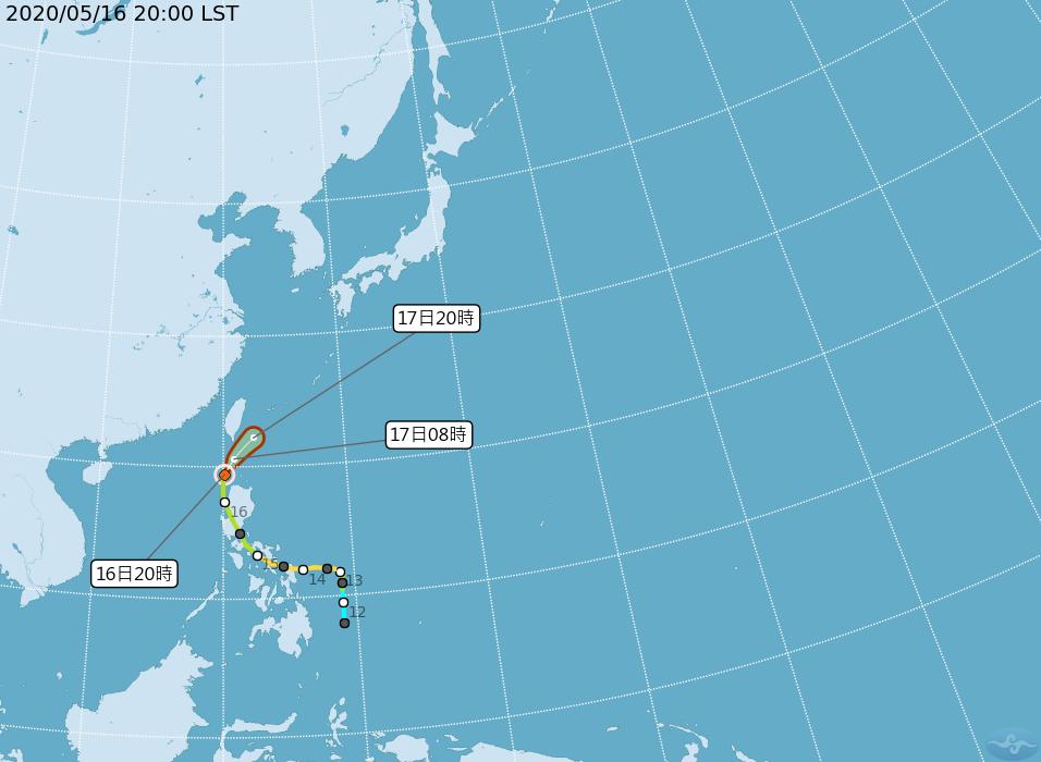 颱風黃蜂減弱 可能轉熱帶性低氣壓