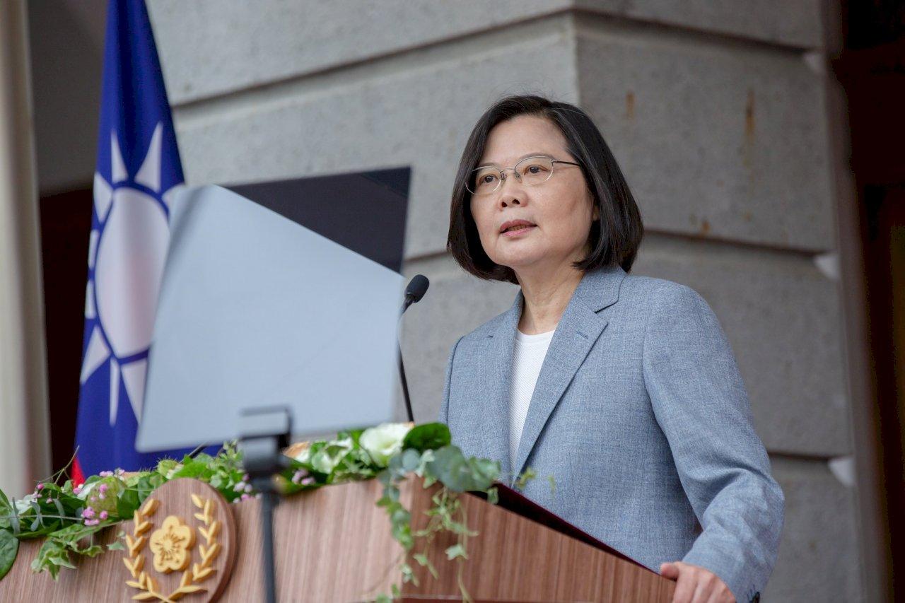 法議員賀蔡總統連任 中國使館推文批評遭砲轟
