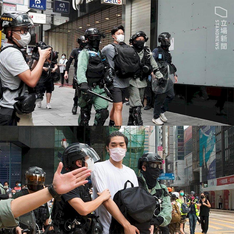 港立法會恢復討論國歌法 多地示威240人被捕