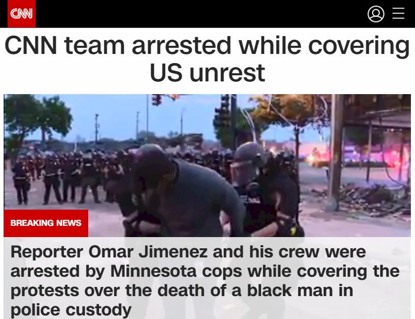 美非裔男遭白人警壓頸致死引暴動 CNN記者報導被捕