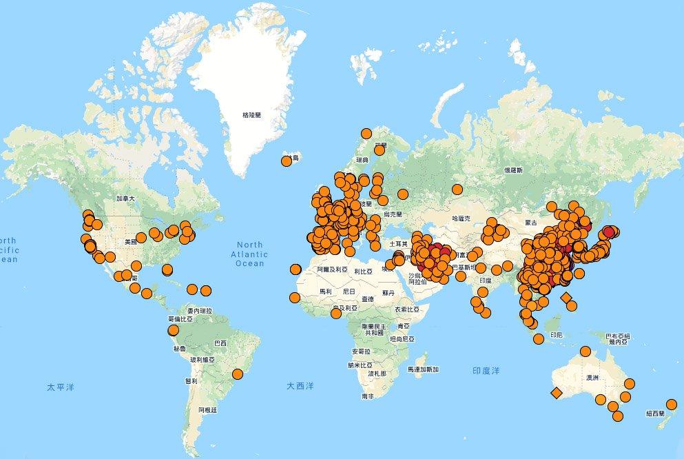 全球逾1億5679萬例武肺確診 超過327萬人病歿