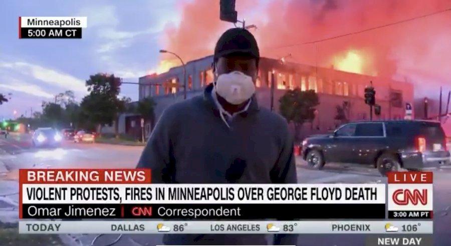 非裔之死抗議潮波及媒體 採訪記者遭遇警民攻擊