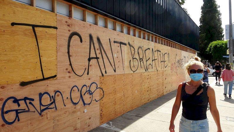 疫情與失業宣洩口 引爆全美半世紀最嚴重暴動