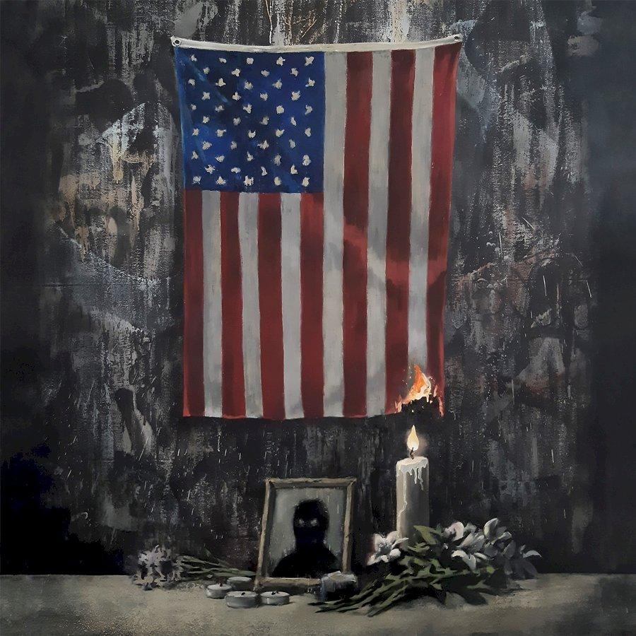 班克西悼非裔男之死 喻美國種族問題燃起火苗