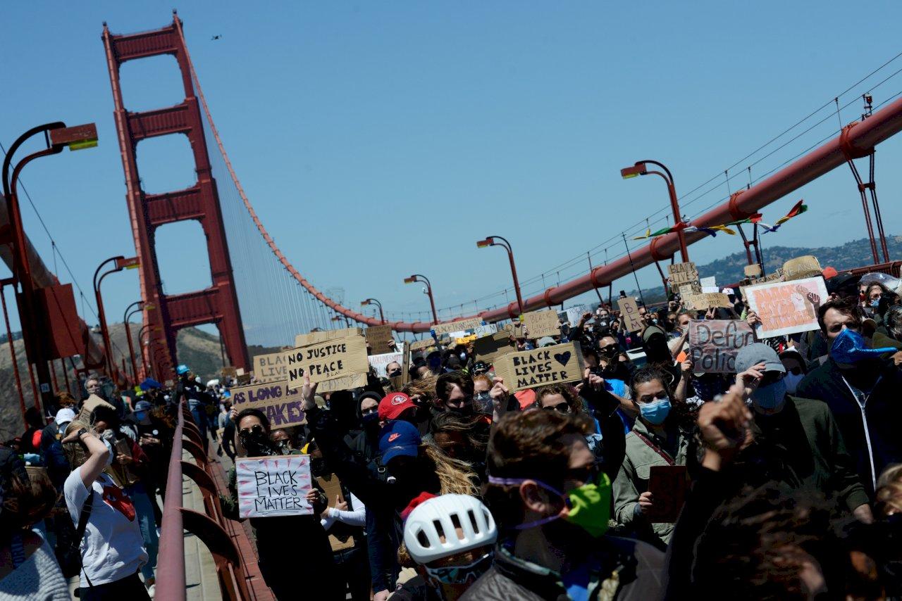 反歧視抗議延燒舊金山 遊行民眾籲公平對待非裔