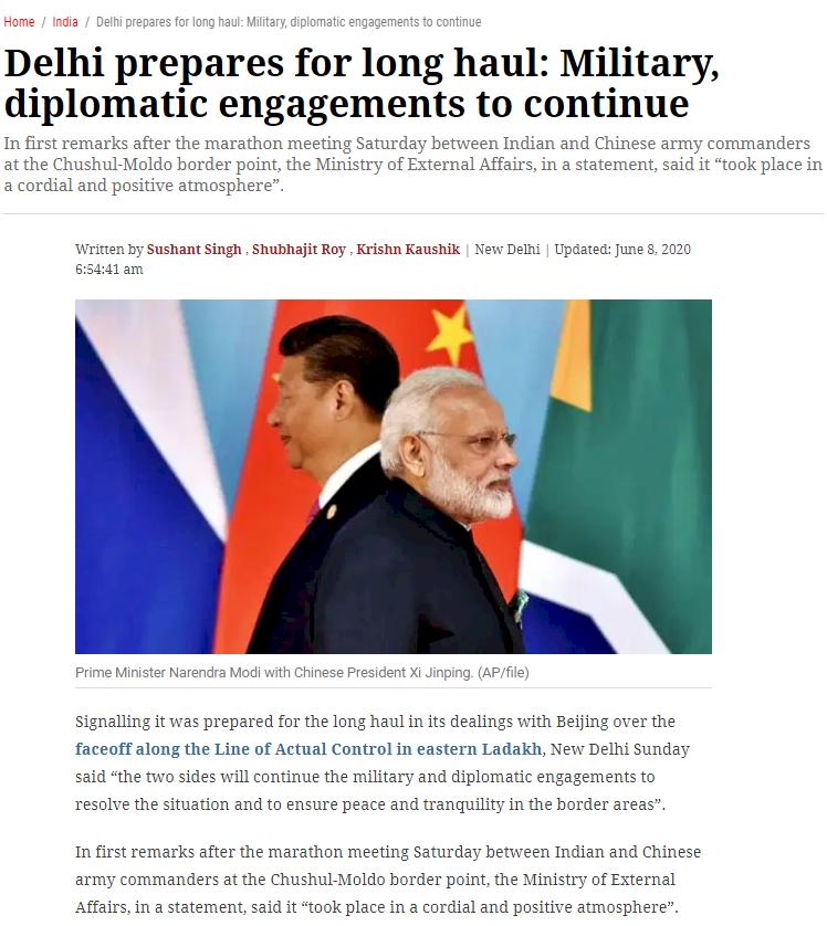 中國拒絕恢復拉達克原狀 中印邊境談判破裂