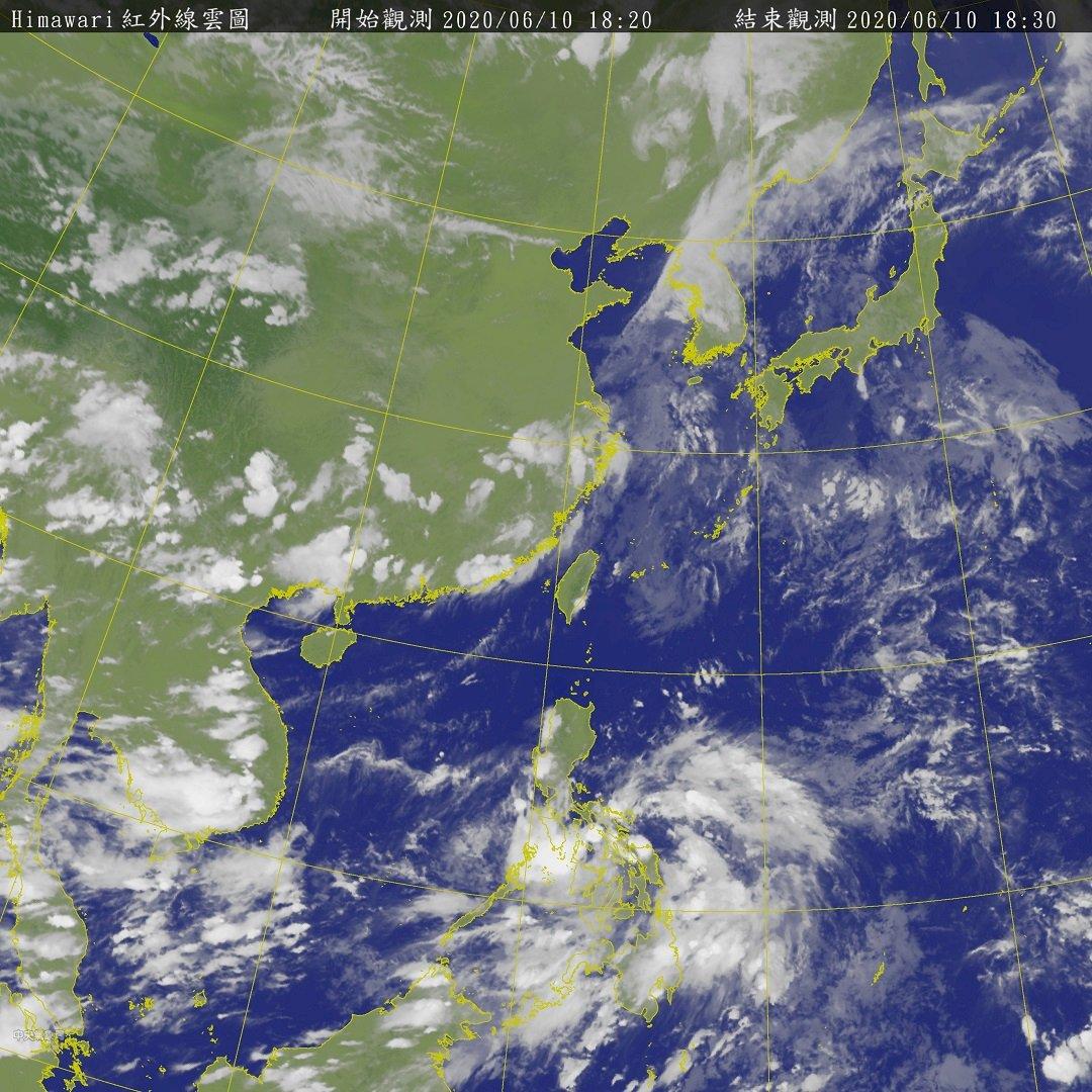 菲律賓東方熱帶擾動最快13日成颱 對台無直接影響