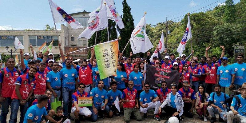 在台印度人感謝台灣抗疫成功 車隊遊行感恩