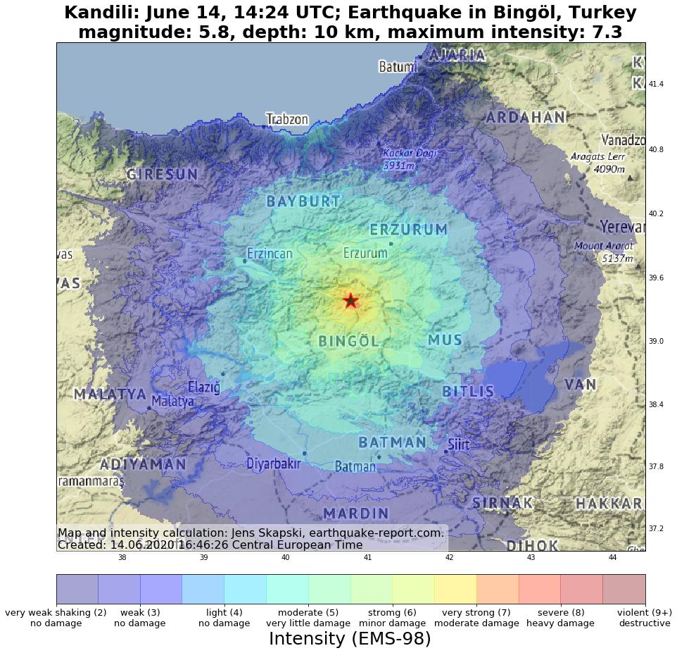 土耳其東部規模5.7淺層地震 至少1死18傷
