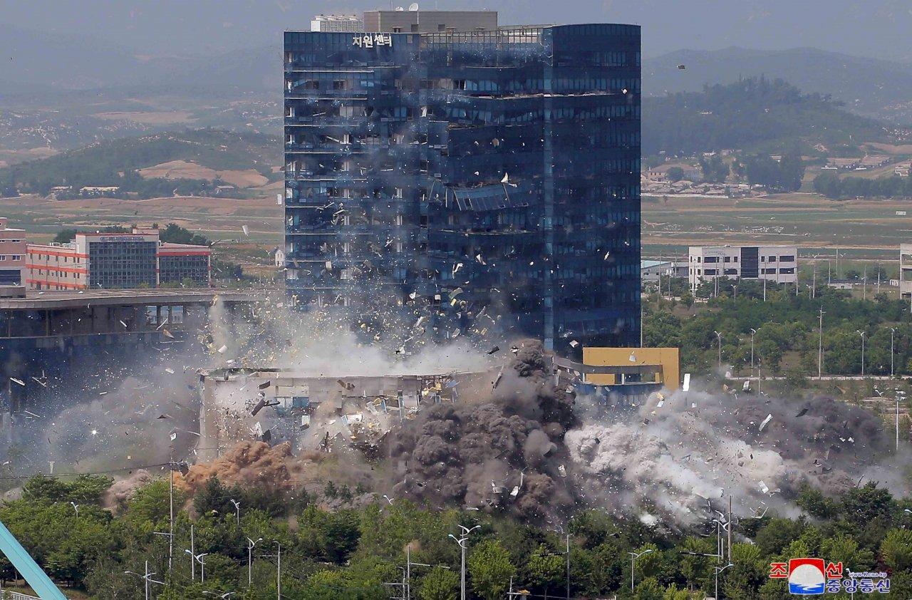 北韓炸毀兩韓聯絡辦公室 美國歐盟籲勿再躁動