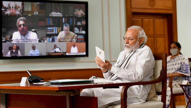 印度政黨會議 各黨支持政府讓中國退回原點