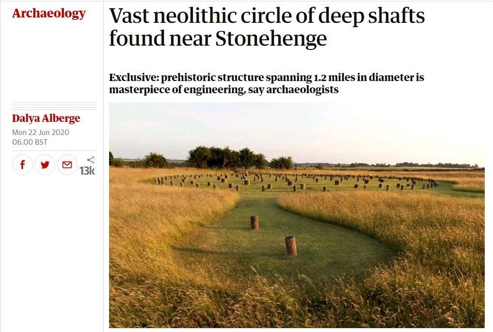 英國巨石陣附近 發現新石器時代巨大豎井圈
