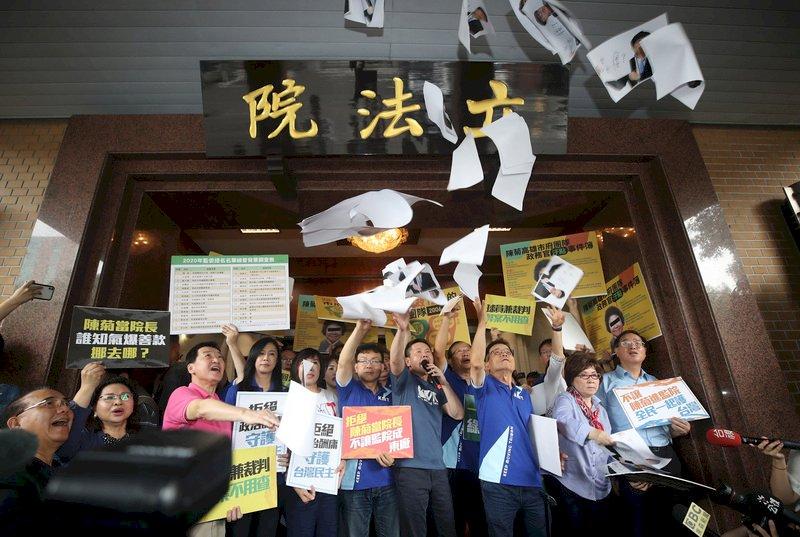 國民黨抗議監委提名 陳菊拜會喊卡
