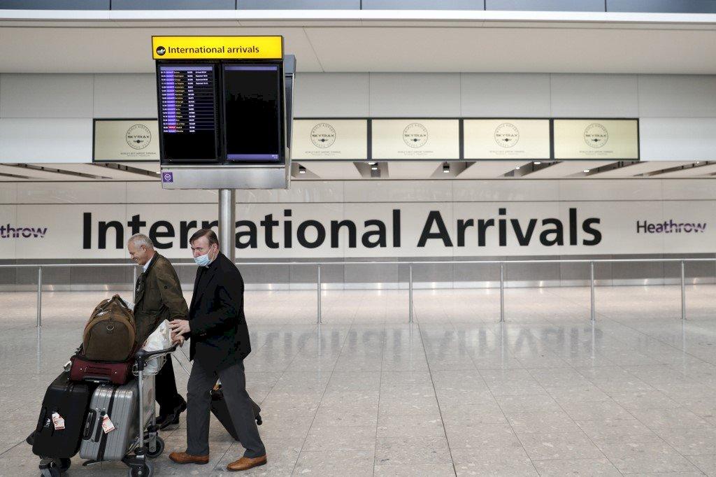 不堪鉅額虧損 倫敦希斯羅機場籲開放接種者旅行