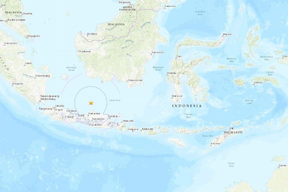 USGS:印尼爪哇島6.6強震