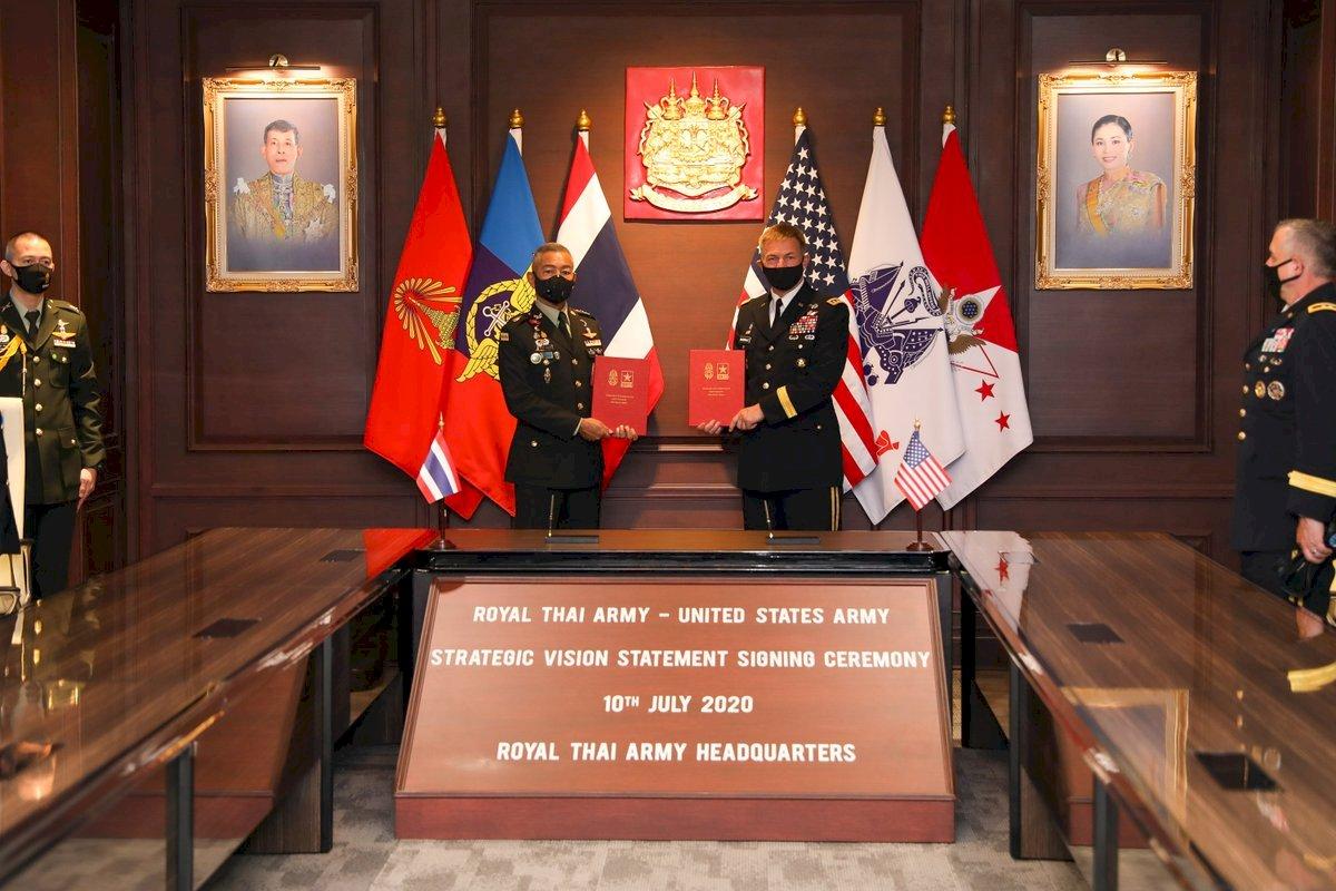 美陸軍參謀長訪泰國 簽署戰略聲明