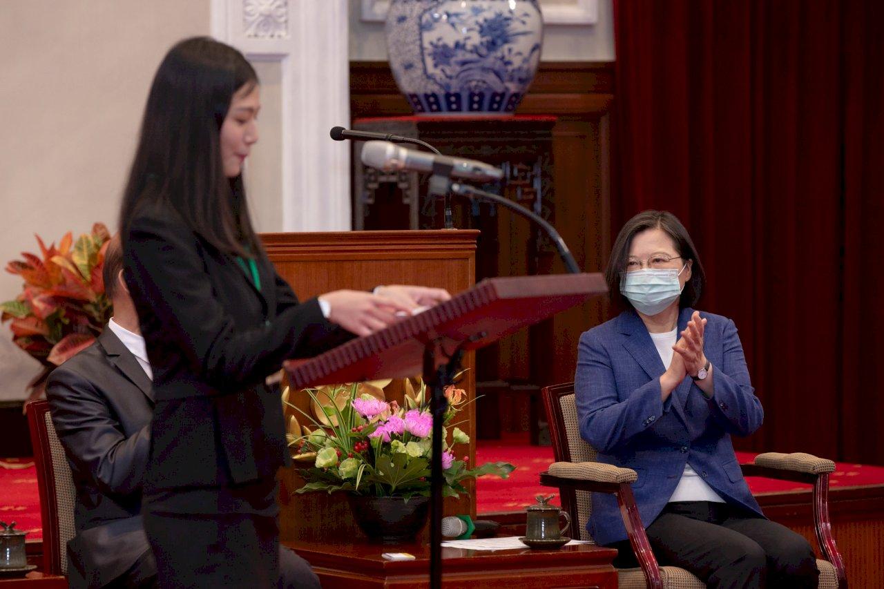 肯定傑青獎得獎人 總統:為台灣帶來改變力量
