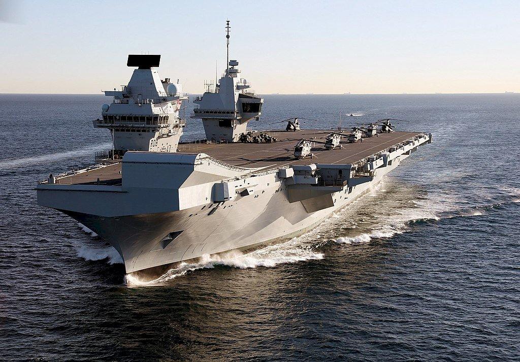 英航艦女王號5月首航 傳避台灣海峽以免激怒中國