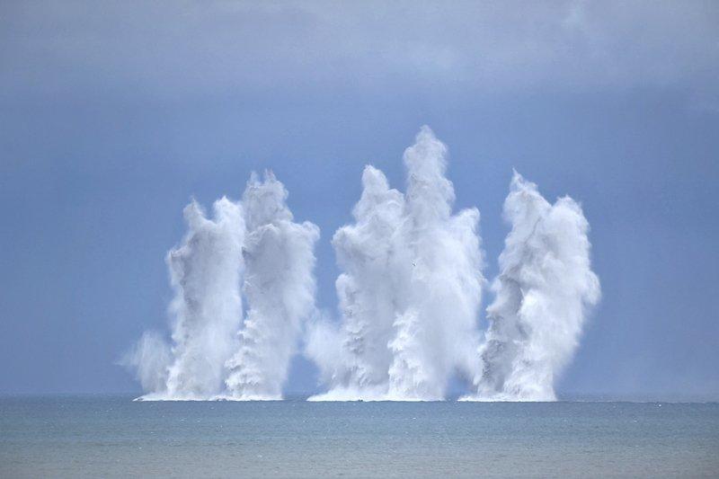 東沙島9月軍演 實彈射擊紅隼模擬殲滅共軍(影音)