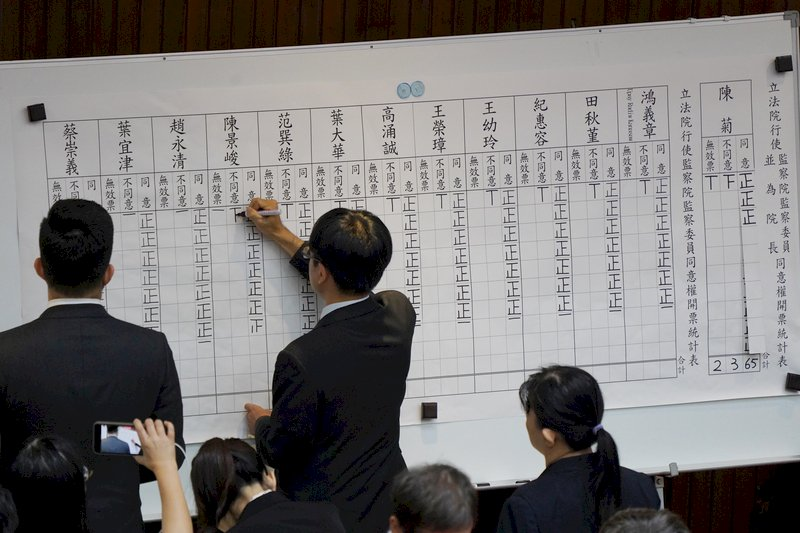 監委人事案在爭議聲中全數過關 陳菊順利出任監察院長