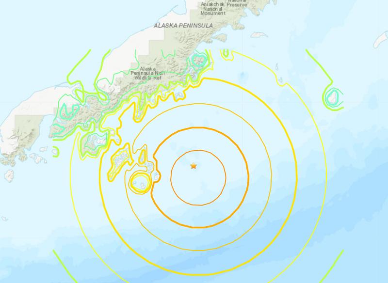 阿拉斯加外海7.8強震後僅有小浪 海嘯警報解除