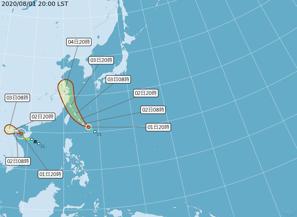 颱風哈格比形成 2日上午發海上警報