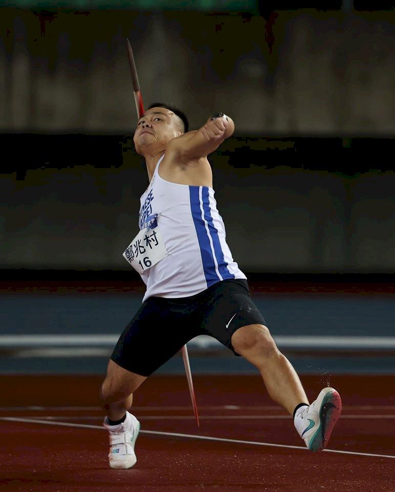 模擬東奧賽標擲出84公尺22   鄭兆村露出開心笑容