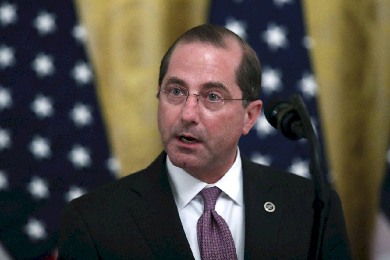 美國衛生部長阿札爾(Alex Azar)下週訪台。 (AP/達志影像)